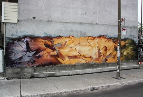 Graffiti mural by Stare
