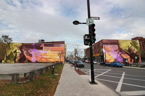 mural diptych by Stare in Hochelaga
