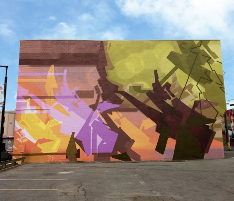 right half of a mural diptych by Stare in Hochelaga