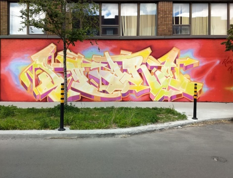 Stare on a KG wall in Hochelaga