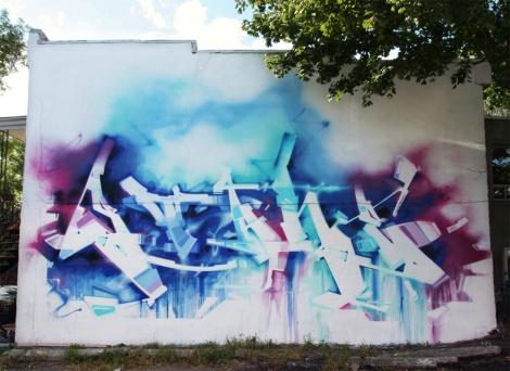 graffiti mural by Stare for Plaza Walls