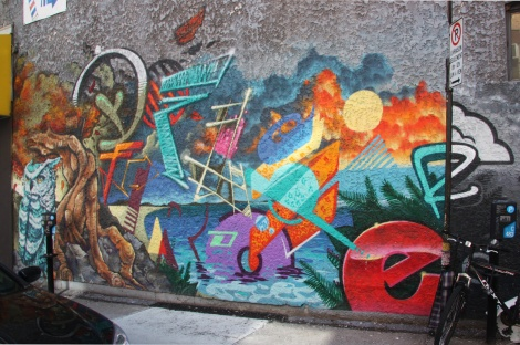 downtown mural by A'Shop featuring Fleo and Dré