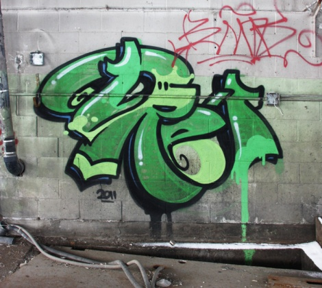 Dré aka Earth Crusher in an abandoned building