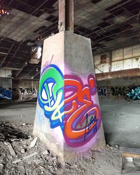 Dré aka Earth Crusher in an abandoned warehouse