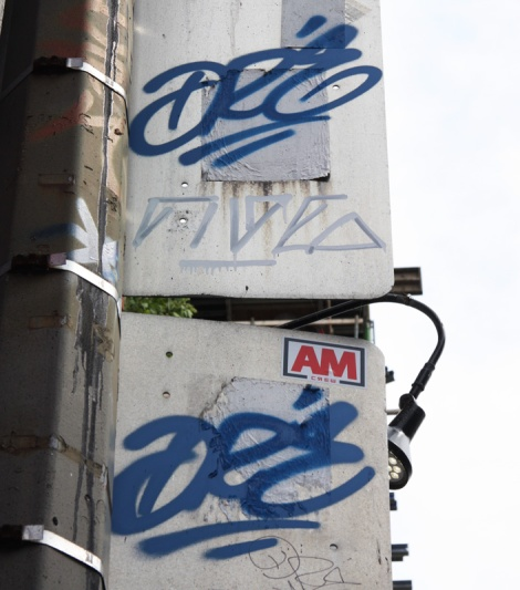 tags by Dré (in blue) and Five Eight (in white)