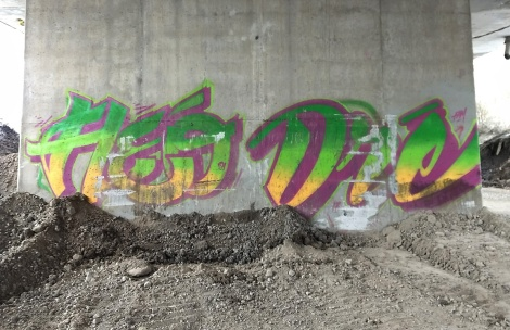 Fleo and Dré under an expressway