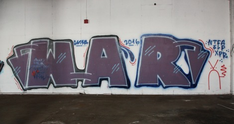 War piece in the abandoned Transco