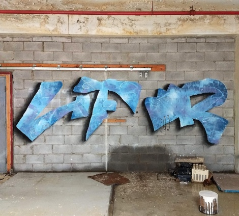Lyfer in an abandoned building