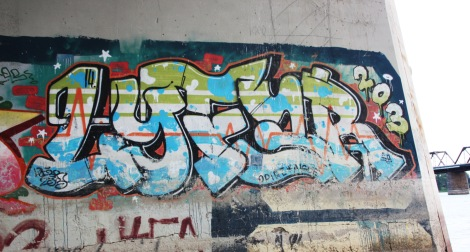 Lyfer piece under some bridge