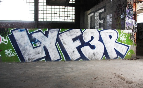 Lyfer piece in abandoned building