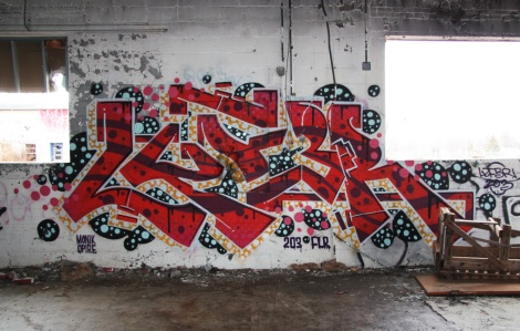 "Lyfer piece at the abandoned ""Jailspot"""