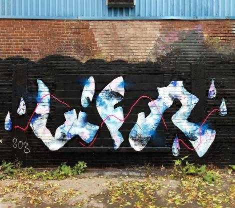 Lyfer piece in a Hochelaga alley