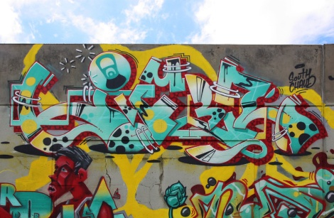 Lyfer's part in the 203 crew wall at the Festival de Canes in Longueuil