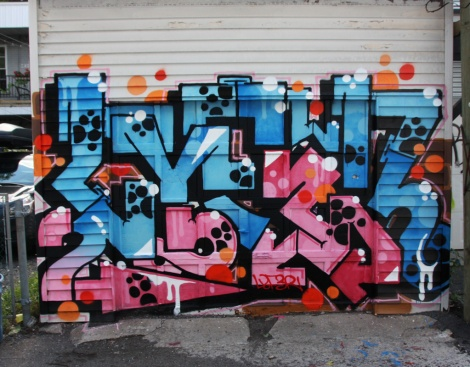 Lyfer piece for the Plaza Walls event in Petite-Patrie