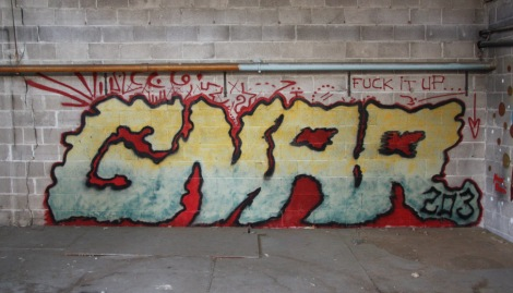 Gnar on the abandoned Transco's second floor B