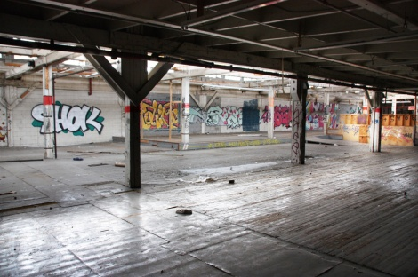 the abandoned Transco's second floor B - general view