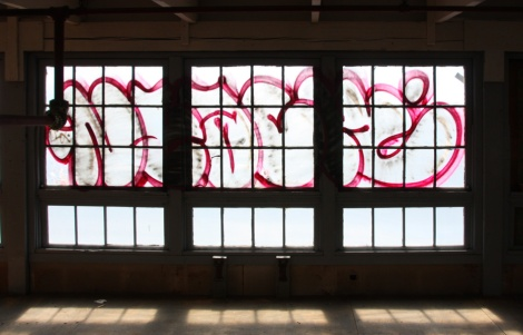 Neack of the windows of the abandoned Transco's 3rd floor