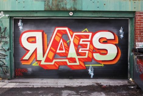 Raes on Mile End garage door