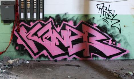 Kaner in the abandoned Transco's green room