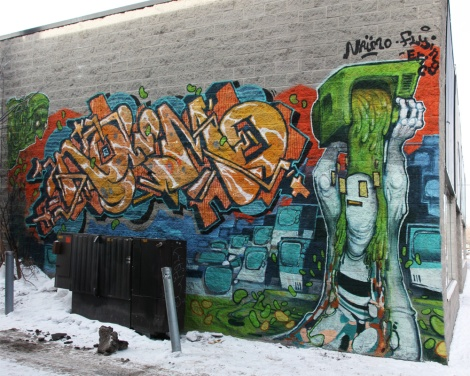 Naimo (letters) and Flying Eric (figurative) in Villeray