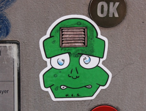 sticker by unidentified artist (H.E.S.?)