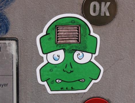 sticker by unidentified artist (H.E.S.?)
