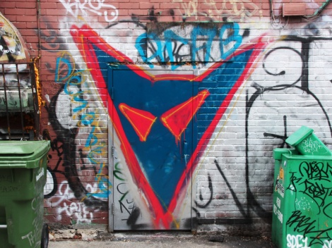 piece by unidentified artist in the Plateau