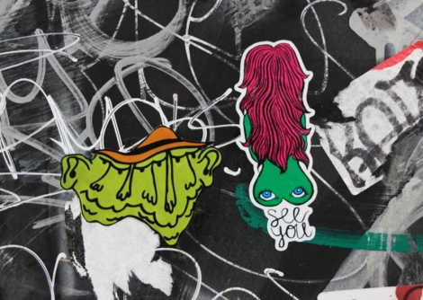 stickers by Dookie3 (left) and Sloast (right)
