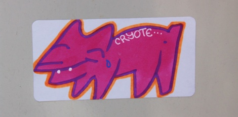 hand-drawn sticker by Cryote