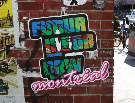 Futur Lasor Now wheatpaste found in Mile End