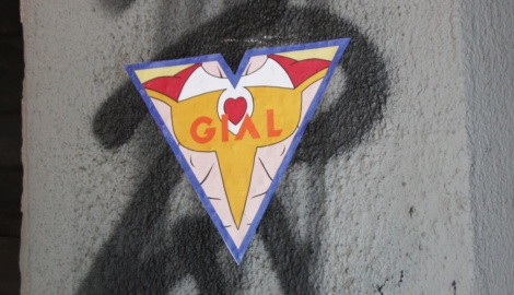 Gial paste-up, various locations
