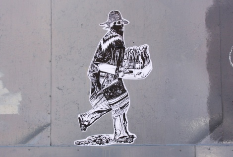 wheatpaste by unidentified artist found in Hochelaga