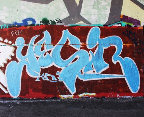 Yesir at the Papineau legal graffiti wall