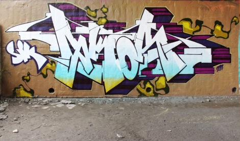 Skor at the Papineau legal graffiti wall