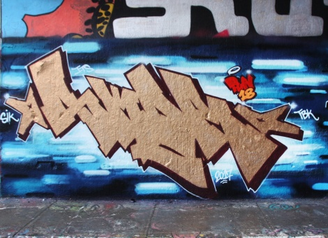 Skor at the Rouen legal graffiti tunnel