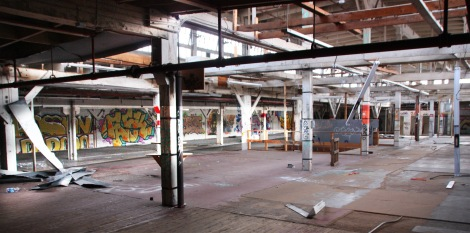 general view of one of the 2nd floors of the abandoned Transco