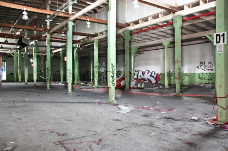 the abandoned Transco's green room - general view