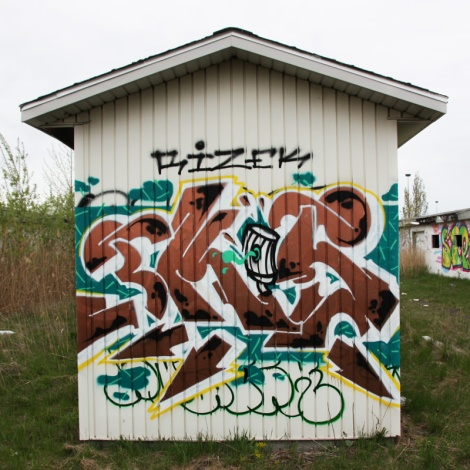 Ekes piece found at the abandoned Montreal Hippodrome