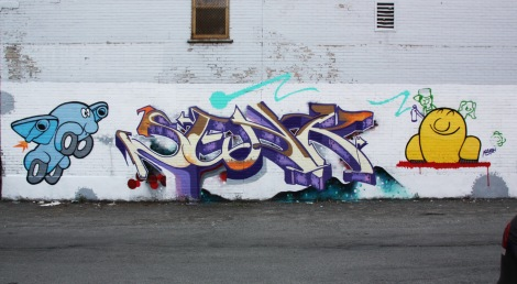 Senk's half of an AG Crew wall in Petite-Patrie