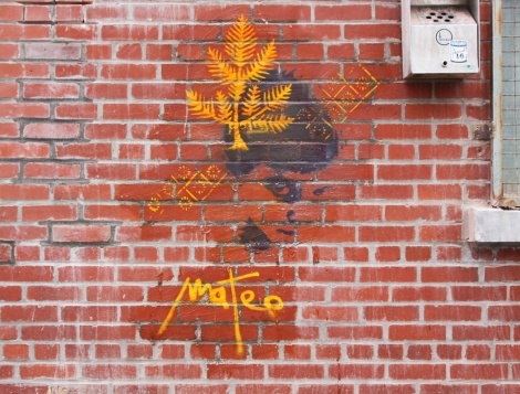 short-lived Mateo stencil in the Fashion District