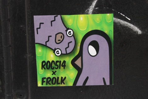 ROC514 and Frolk collaboration sticker
