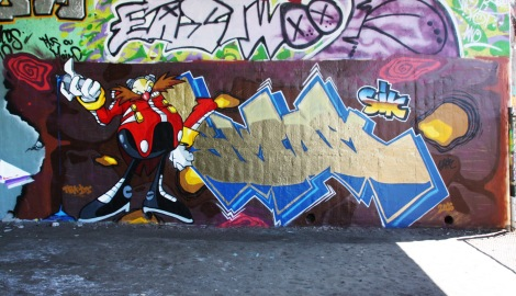 Skor found at the Papineau legal graffiti wall