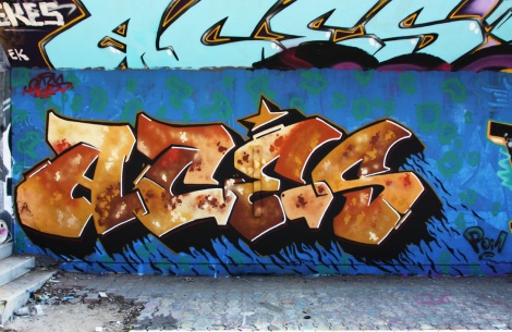 Aces at the PSC legal graffiti wall
