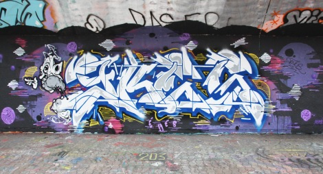 Ekes at the PSC legal graffiti wall