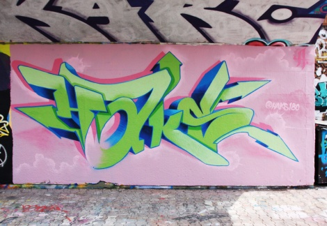 Haks at the PSC legal graffiti wall