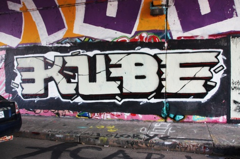 Kube at the Rouen legal graffiti tunnel