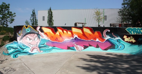 Skor at the Project45 skatepark