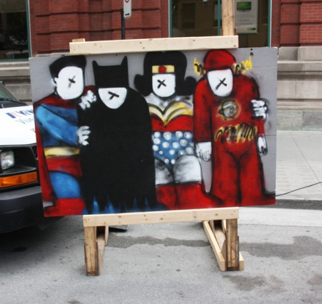 "IAmBatman on ""your face here"" board for the 2016 edition of Mural Festival"