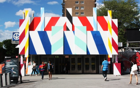 St-Laurent métro makeover by Maser for the 2016 edition of Mural Festival (front)