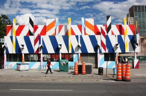 St-Laurent métro makeover by Maser for the 2016 edition of Mural Festival (side)